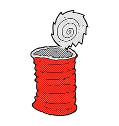 comic cartoon old tin can vector image