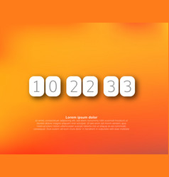 Countdown timer clock counter vector