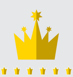 crown icon set isolated vector image