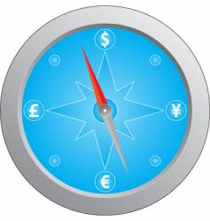 currency compass vector image