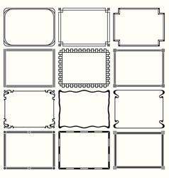 decorative simple frames vector image