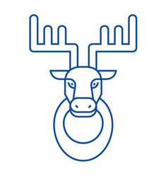 deer head line icon concept deer head flat vector image