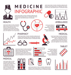 Digital black red pharmacy vector