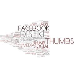 Dislike word cloud concept vector