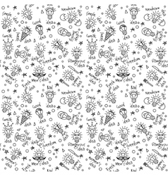 Doodles creative ideas black and white lines vector