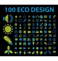 Eco signs 100 vector