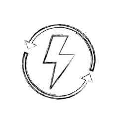 Figure energy hazard symbol with arrows around vector
