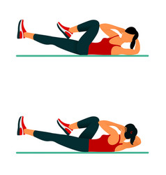 Fitness exercises for strong and beautiful body vector