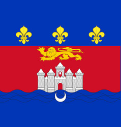 Flag of bordeaux in nouvelle-aquitaine is the vector
