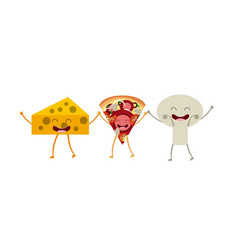 Food character menu icons vector