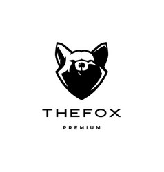 fox head logo icon vector image