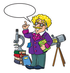funny scientist or inventor profesion abc series vector image