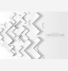 grey and white tech paper arrows abstract vector image