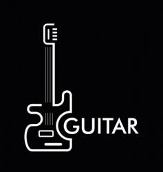 Guitar bass vector