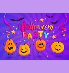halloween party banner for kids vector image