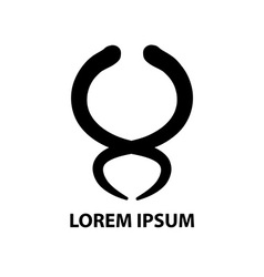 Hand drawn company logo symbol icon vector image vector image