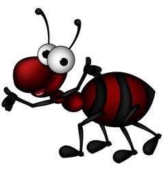 Happy ant vector