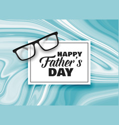 Happy fathers day card design background vector