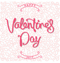 Happy valentines day stylized design with linear vector