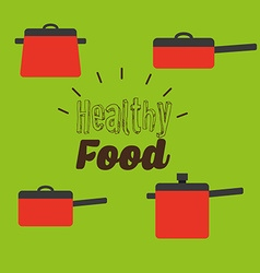 Healthy vegetarian food design vector