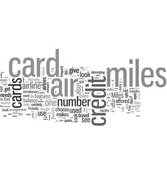how to choose right air miles credit card vector image