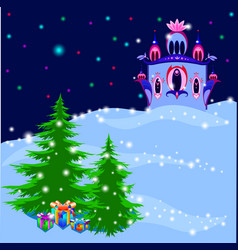 ice royal palace in magic winter vector image