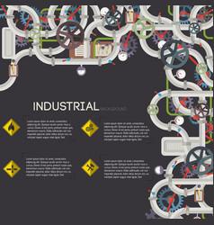 Industrial pipeline background vector