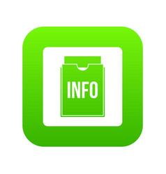 info folder icon digital green vector image