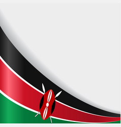 Kenyan flag background vector