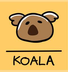 Koala hand-drawn style vector