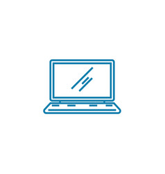 laptop linear icon concept laptop line vector image