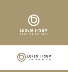 Letter initial b logo design inspiration vector