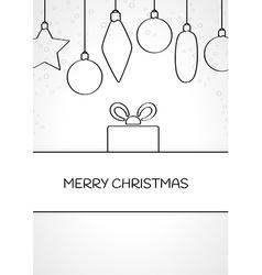 Linear christmas card vector