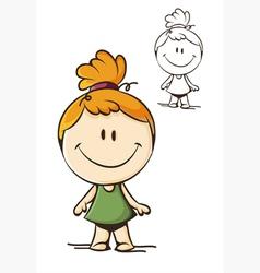 little funny girl vector image