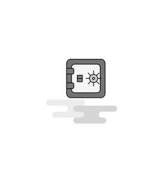 locker web icon flat line filled gray icon vector image