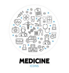 medicine care round concept vector image