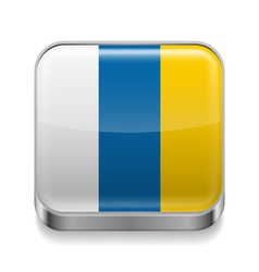 Metal icon of Canary Islands vector