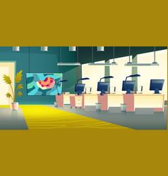 modern company office hall interior cartoon vector image
