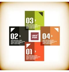 Modern geometrical banner design template vector