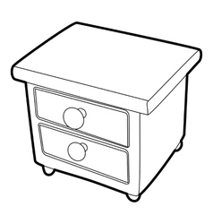 Nightstand icon isometric 3d style vector