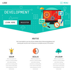 one page website design vector image