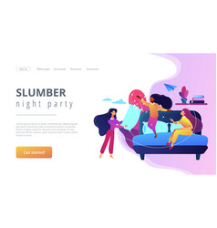 Pajama party concept landing page vector
