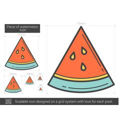 piece of watermelon line icon vector image