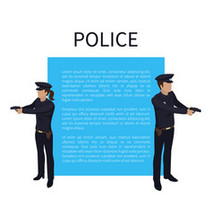 police policewoman and man vector image