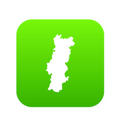 portugal map icon green vector image