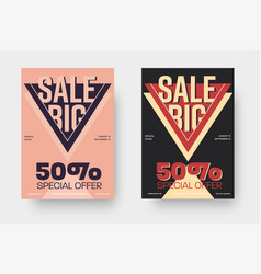 Poster in pink and black color 50 discount vector