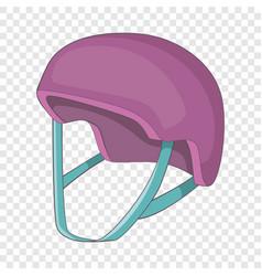 Protective helmet icon cartoon style vector