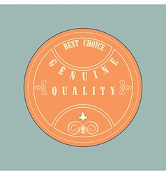 Retro style badge vintage style vector image