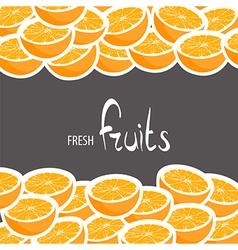 Ripe oranges vector