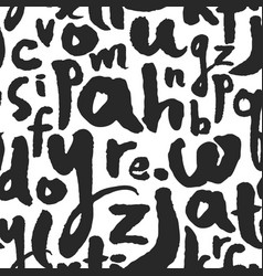 seamless pattern with calligraphy letters vector image